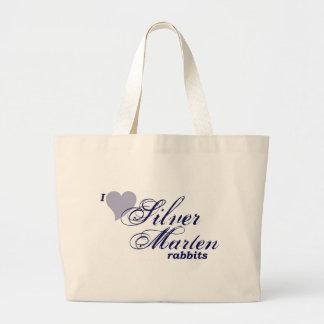 Bolso de plata de los conejos de la marta bolsas