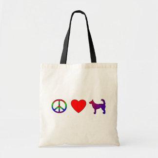 Bolso de Podengos del amor de la paz Bolsas