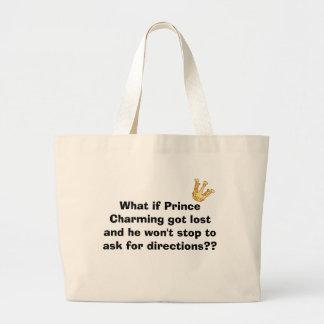 Bolso de príncipe el encantar bolsa tela grande