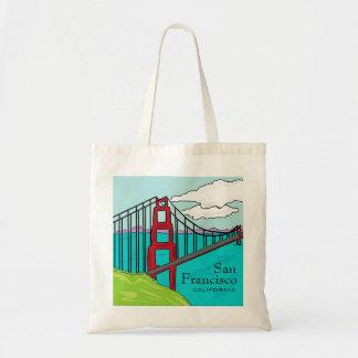 Bolso de puente Golden Gate de San Francisco Cali Bolsa Tela Barata