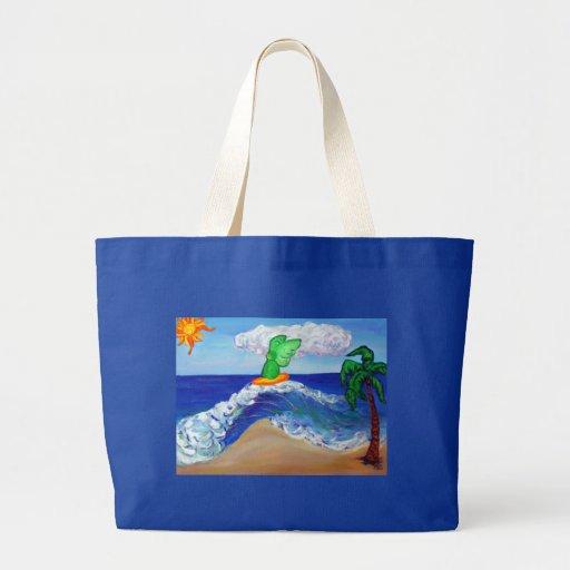 Bolso de Raphael del ángel que practica surf Bolsa Tela Grande