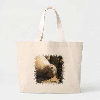 Bolso de reclinación de la lona del león marino bolsas de mano