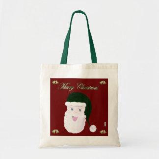 Bolso de risa de Santa (verde) Bolsa Tela Barata