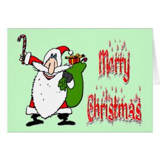 Bolso de Santa y del juguete Felicitación