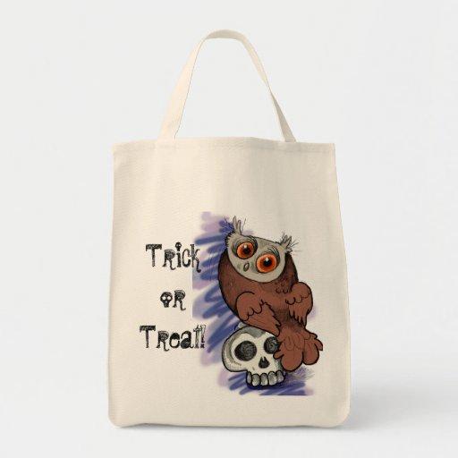 Bolso de Scardy Owl~treat del truco o de la Bolsa Lienzo