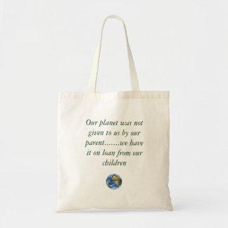 bolso de tierra del planeta bolsa tela barata