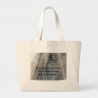 Bolso de /tote de la tela de lana basta de los ojo bolsas