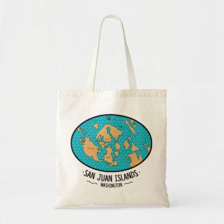 Bolso de tote de las islas de San Juan Bolsa Tela Barata