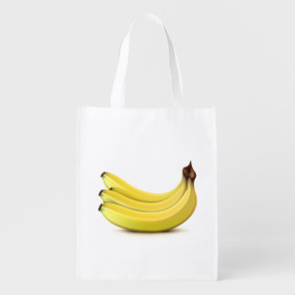 Bolso de ultramarinos amarillo maduro de los bolsa reutilizable