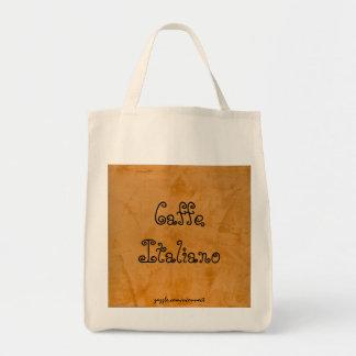 Bolso de ultramarinos anaranjado toscano de Caffe Bolsa Tela Para La Compra