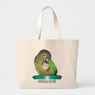 Bolso de ultramarinos cheeked verde 2 bolsa tela grande