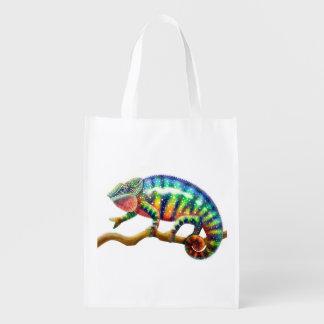 Bolso de ultramarinos colorido del lagarto del bolsas para la compra