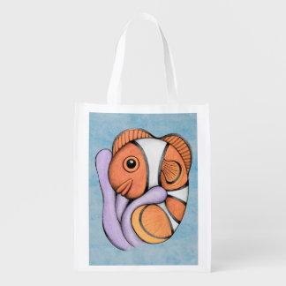 Bolso de ultramarinos de Clownfish del bebé Bolsa Para La Compra