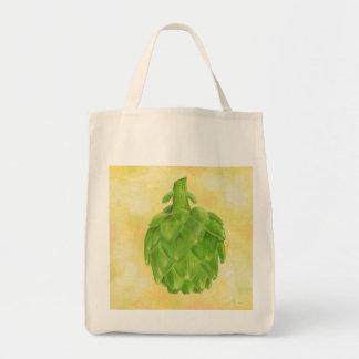 Bolso de ultramarinos de la alcachofa bolsa tela para la compra