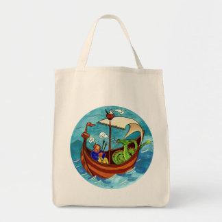 Bolso de ultramarinos de la banda del barco de la bolsa tela para la compra