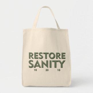 Bolso de ultramarinos de la cordura del restableci bolsas