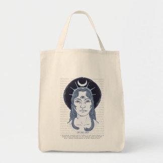 Bolso de ultramarinos de la diosa de la luna bolsa tela para la compra