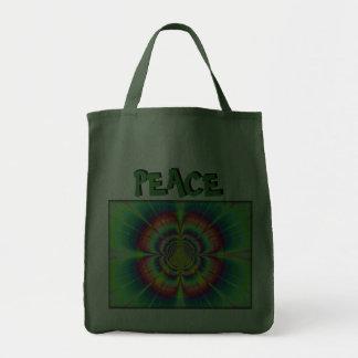 Bolso de ultramarinos de la paz del flower power bolsa de mano