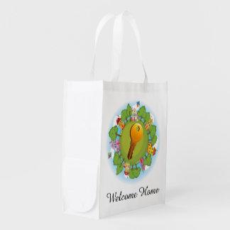 Bolso de ultramarinos de la vecindad/de las bolsas reutilizables