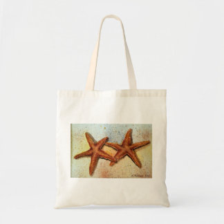 bolso de ultramarinos de las estrellas de mar bolsa lienzo