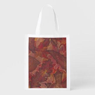 Bolso de ultramarinos de las hojas de otoño bolsas de la compra