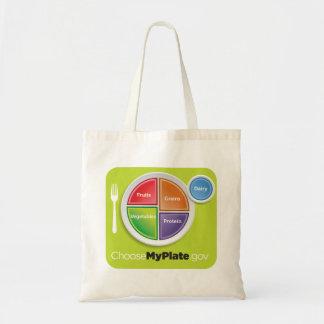 Bolso de ultramarinos de MyPlate - verde Bolsa Tela Barata