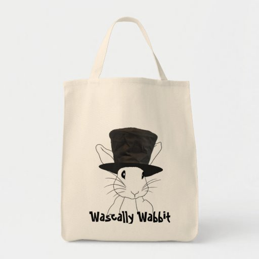 Bolso de ultramarinos de Wascally Wabbit Bolsa Tela Para La Compra