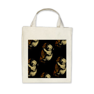 Bolso de ultramarinos del diseño del arte del oso  bolsa