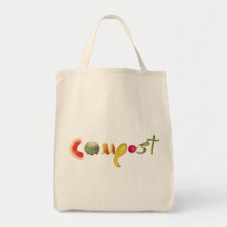 Bolso de ultramarinos del estiércol vegetal bolsa tela para la compra