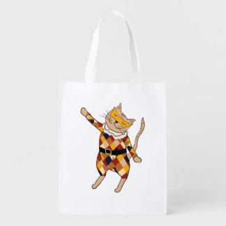Bolso de ultramarinos del gatito del Harlequin del Bolsas De La Compra