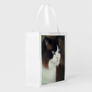 Bolso de ultramarinos del gato de Ragdoll Bolsa Para La Compra