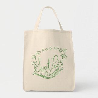 Bolso de ultramarinos del guisante de olor bolsa tela para la compra