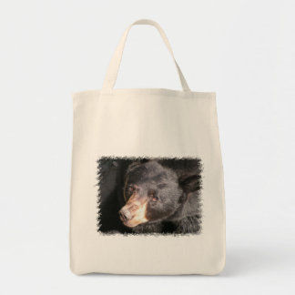 Bolso de ultramarinos del oso negro bolsa tela para la compra