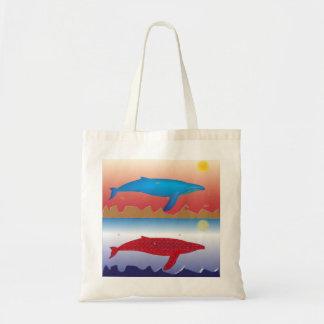 Bolso de ultramarinos del paño de las ballenas bolsas