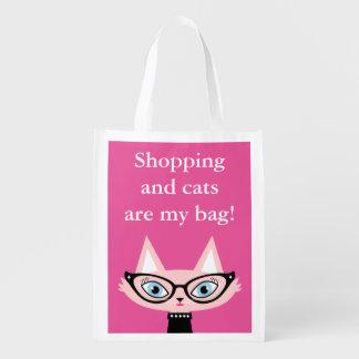 Bolso de ultramarinos elegante de las compras del bolsas para la compra