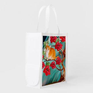 Bolso de ultramarinos floreciente de los vecinos bolsas de la compra