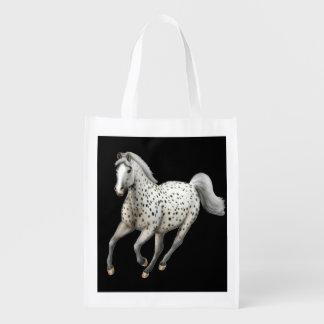 Bolso de ultramarinos galopante del caballo del bolsa para la compra