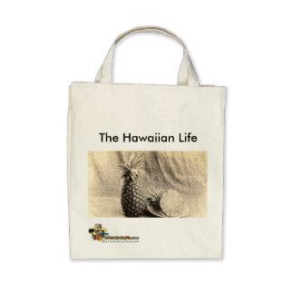 Bolso de ultramarinos hawaiano de la vida bolsa de mano