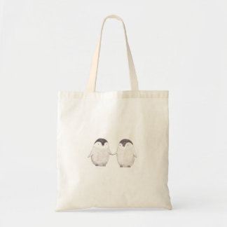 Bolso de ultramarinos lindo de los pingüinos de la bolsa