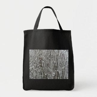 Bolso de ultramarinos nevado del invierno de las r bolsa