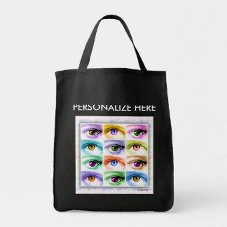Bolso de ultramarinos - ojos del arte pop bolsa tela para la compra