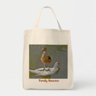 Bolso de ultramarinos orgánico de la reunión de bolsa tela para la compra