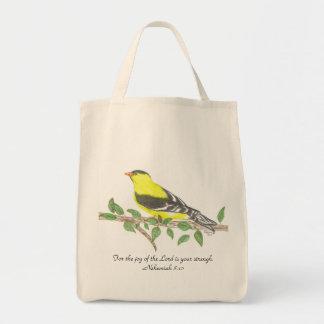 Bolso de ultramarinos orgánico del Goldfinch