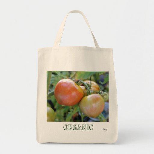 Bolso de ultramarinos orgánico del tomate bolsa tela para la compra