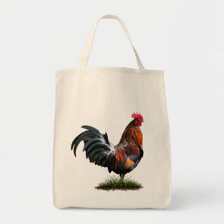 Bolso de ultramarinos pintado del gallo bolsa tela para la compra