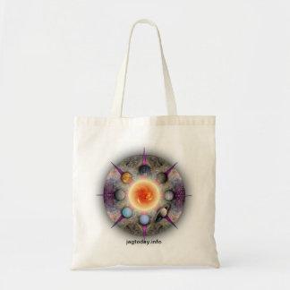 Bolso de ultramarinos planetario de la mandala bolsa de mano