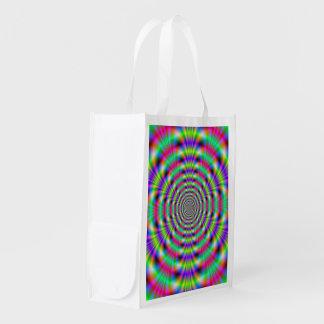 Bolso de ultramarinos psicodélico de los anillos bolsas de la compra