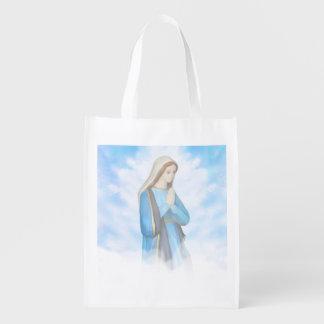 Bolso de ultramarinos reutilizable bendecido del bolsas para la compra