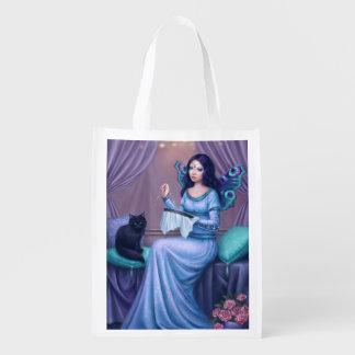 Bolso de ultramarinos reutilizable de hadas de la bolsas para la compra