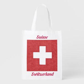 Bolso de ultramarinos reutilizable de la bandera bolsa de la compra